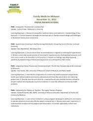 Family Medicine Midwest November 11, 2012 PAPER ...