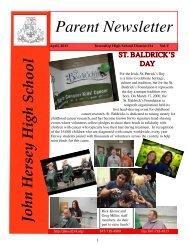 Parent Newsletter - John Hersey High School - High School District ...