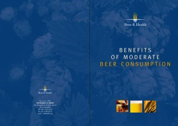 The Benefits of Moderate Beer Consumption - Asociatia Berarii ...