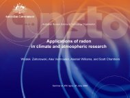 Applications of radon in climate and atmospheric research