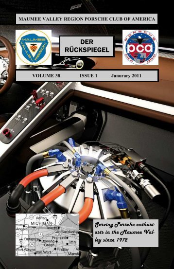 Volume 38 Issue 1, January 2011 - Maumee Valley - Porsche Club ...