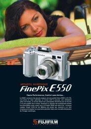 Fiche Produit FinePix E550