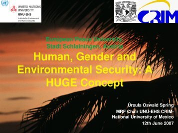 Human, Gender and Environmental Security