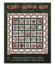 Robert's Baltimore Album - RJR Fabrics