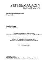 Regionalentscheidung Hamburg 27. April 2009 Henrik ... - Die Zeit