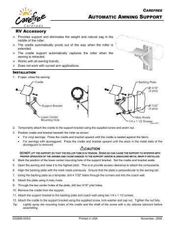 Colorado Carefree Awnings manual