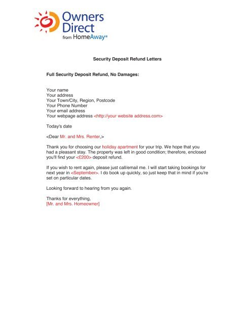 Security Deposit Letter To Tenant Sample from img.yumpu.com