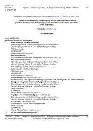L-Luxemburg: Instandhaltung und Reinigung der von dem ...