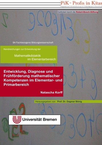 Entwicklung, Diagnose und Frühförderung mathematischer ...