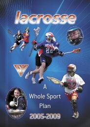 Whole Sport Plan - sportcentric