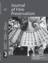 Journal of Film Preservation - FIAF