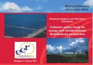 Cohesion policy funds for energy and climate policies ... - Events
