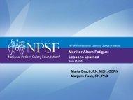 Download the Presentation Slides - National Patient Safety ...