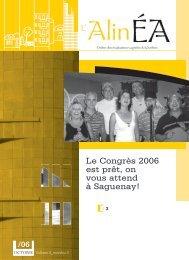octobre 2006 - Ordre des évaluateurs agréés du Québec