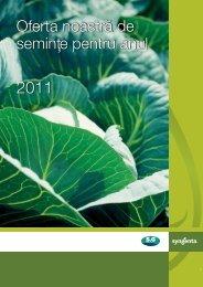 Catalog Syngenta seminte varzoase, morcovi, ceapa - ecoplant.ro