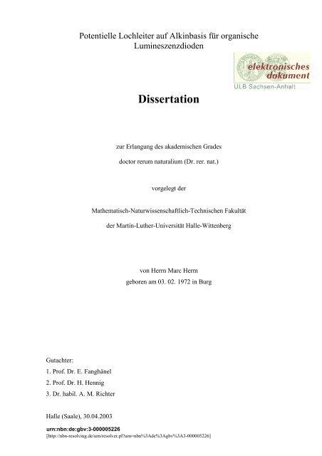 Uni halle bibliothek dissertationen business plan outline harvard