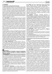 11 5. GARANZIA - Marzocchi