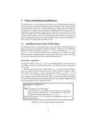 Wahrscheinlichkeitsamplifikation - Lehrstuhl für Effiziente Algorithmen