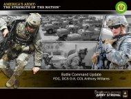 Battle Command Update - AFCEA Belvoir