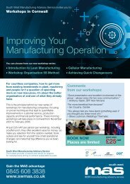 Improving Your Manufacturing Operation - SWMAS