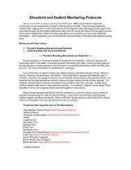 Shorebird and Seabird Monitoring Protocols