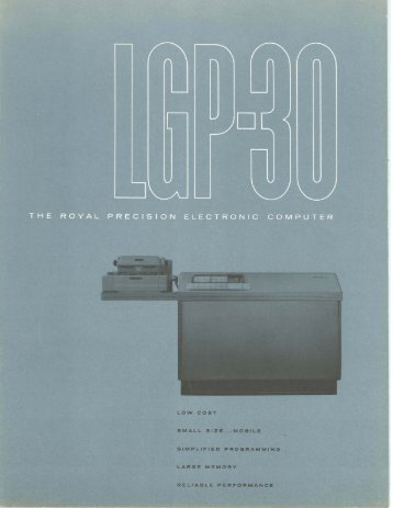 LGP-30 The Royal Precision Electronic Computer, 1956