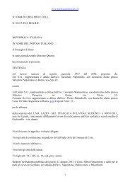 CONSIGLIO DI STATO, SEZ. V, 3 luglio 2012, n. 3884 - Il diritto ...
