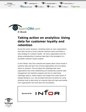 Taking action on analytics: Using data for customer loyalty ... - Bitpipe