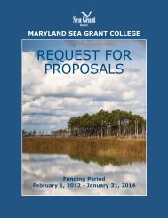 Maryland Sea Grant Request for Proposals, 2012-2014