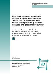 Evaluation of patient reporting of adverse drug reactions to the UK ...