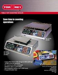 Spec sheet - ScalesGalore