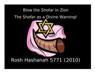 Rosh Hashanah 5771 (2010) - Congregation Yeshuat Yisrael