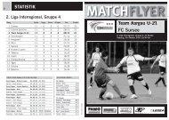 Team Aargau U-21 FC Sursee MATCHFLYER - FC Aarau