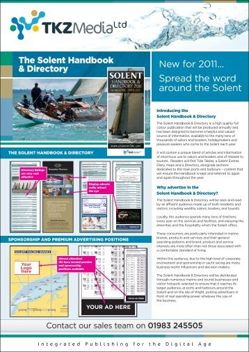 Solent Handbook & Directory Rate Card 2011 - Cowes Online