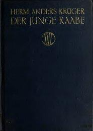 Der junge Raabe, Jugendjahre und Erstlingswerke ... - Scholars Portal