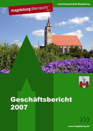 Geschäftsbericht der Landeshauptstadt Magdeburg für das Jahr 2007