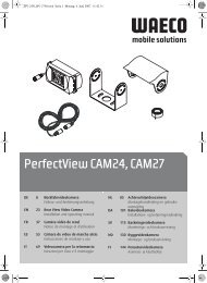 PerfectView CAM24, CAM27 - Waeco
