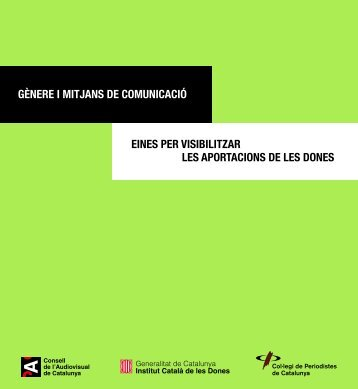gènere i mitjans de comunicació eines per visibilitzar les