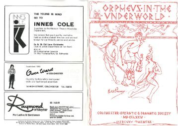 Orpheus in the Underworld 1974 - Colchester Operatic Society