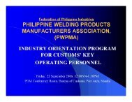 pwpma - Federation of Philippine Industries