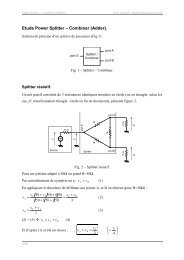 Etude Power Splitter – Combiner (Adder).