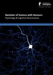 BrochureC850PsychCogNeuro - The University of Nottingham ...