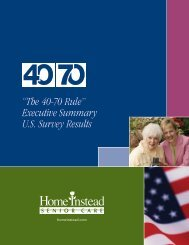 """The 40-70 Rule"" Executive Summary U.S. Survey Results"