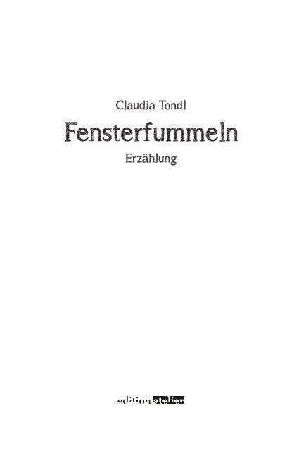 Fensterfummeln - Edition Atelier