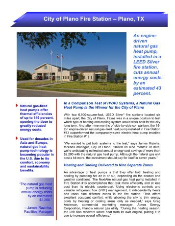 Heat Pump Case Study - Plano, TX - Energy Solutions Center