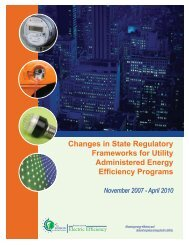Changes in State Regulatory Frameworks for Utility Administered ...