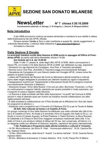 NewsLetter - associazione pionieri e veterani eni