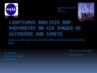 Lightcurve Analysis and Photometry on CCD Images of Asteroids ...