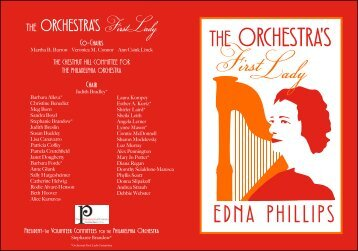 THE ORCHESTRA'S - The Philadelphia Orchestra