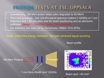 Proton Tests at TSL, Uppsala